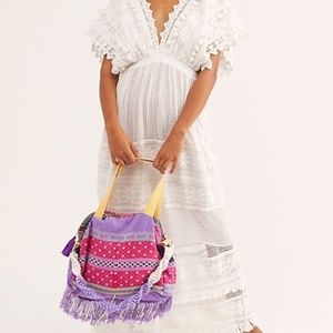 Free People Tricia Fix Embroidered DaytripTote Bag